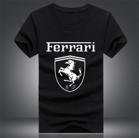 Ferrari Black Men's Tees