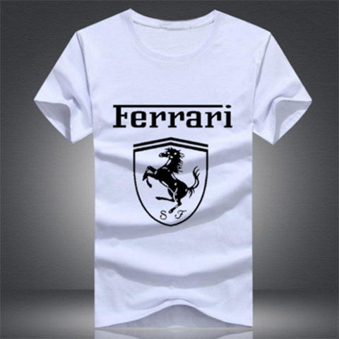 White Ferrari Men's Tees