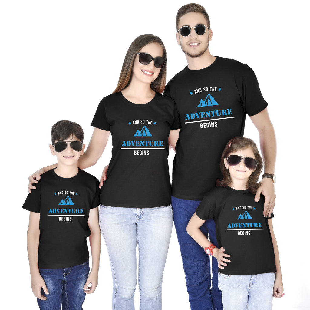 Adventure Begins Family Tees
