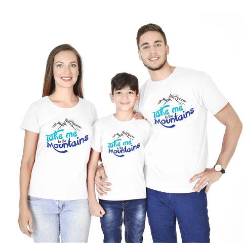 Take Me To The Mountains Family Tees