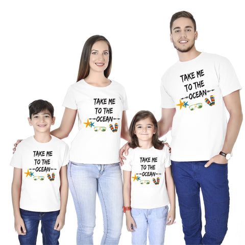 Take Me To The Ocean Family Tees