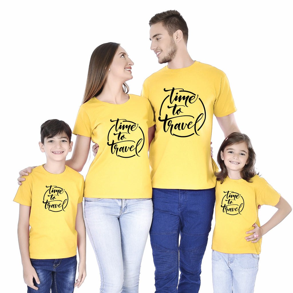 Time To Travel Family Tees