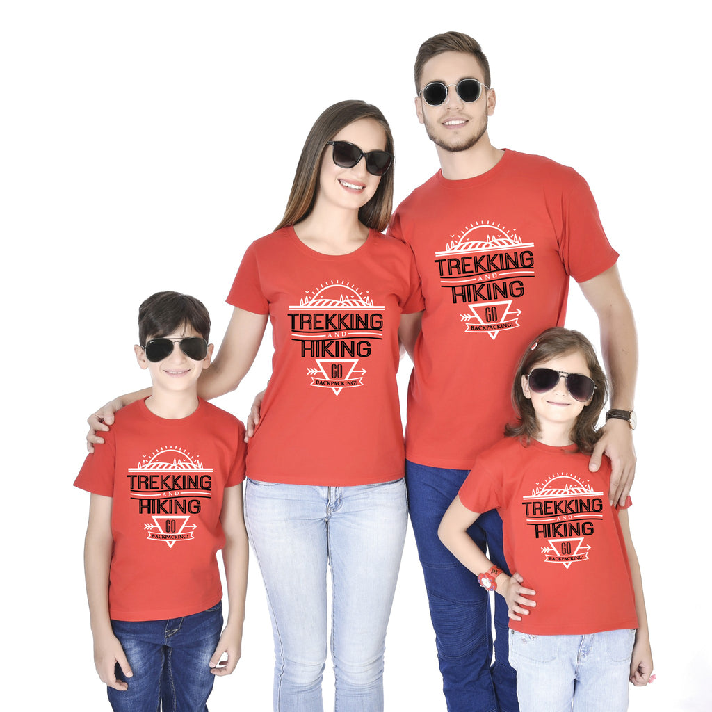Trekking And Hiking Go Backpacking Family Tees