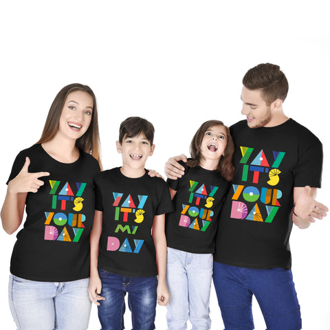 YAY Its My Day! Family Birthday Tees