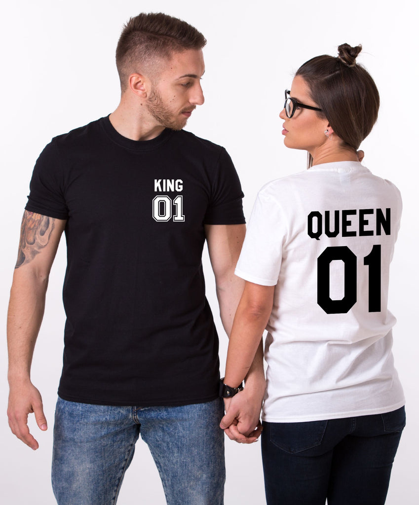 King 01 Queen 01 Pocket Couple Tees