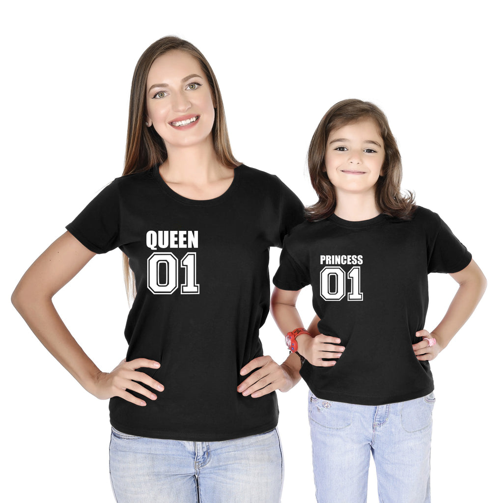 Printed Pocket Tees For Mom Daughter
