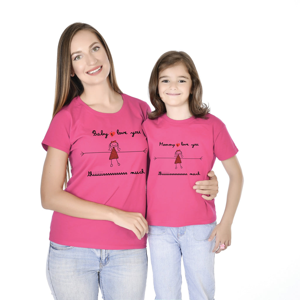 I Love You This Much Mother Daughter Tees