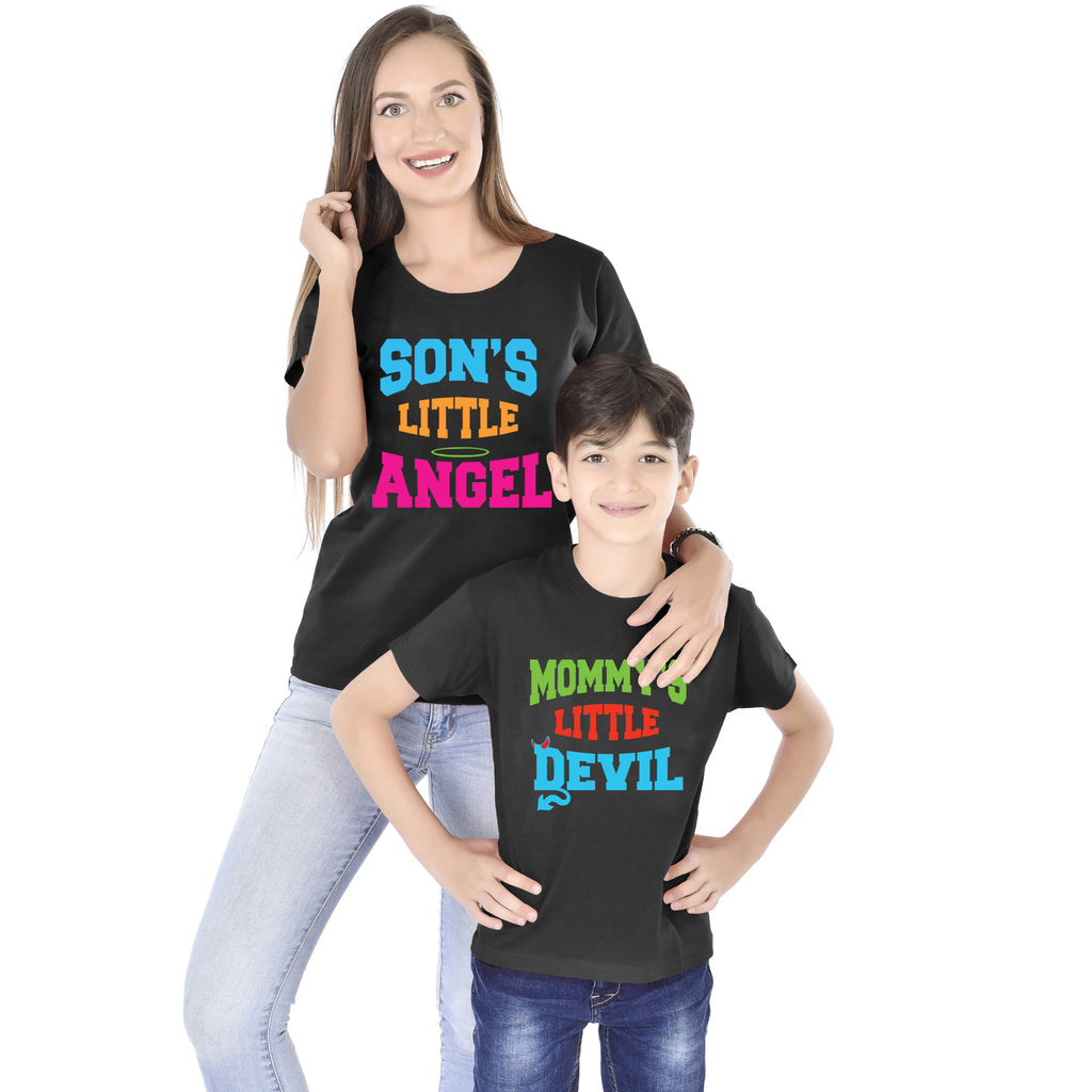 Son's Angel - Mommy's Devil Tees