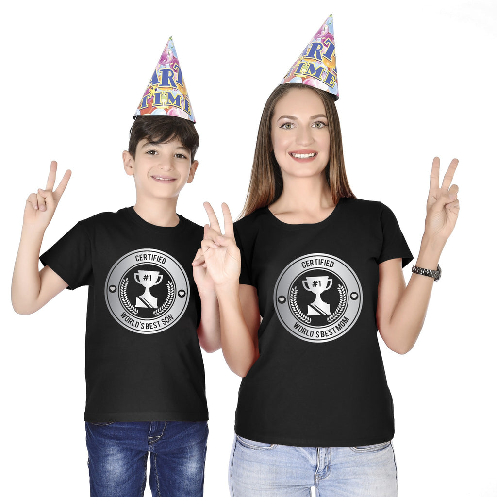 Certified Worlds Best Mother Son Tees