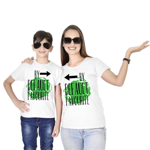 By Default Favourite Mom Son Tees