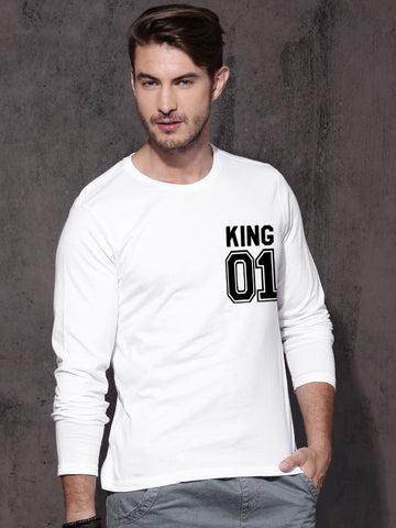 King 01 White Men Tees