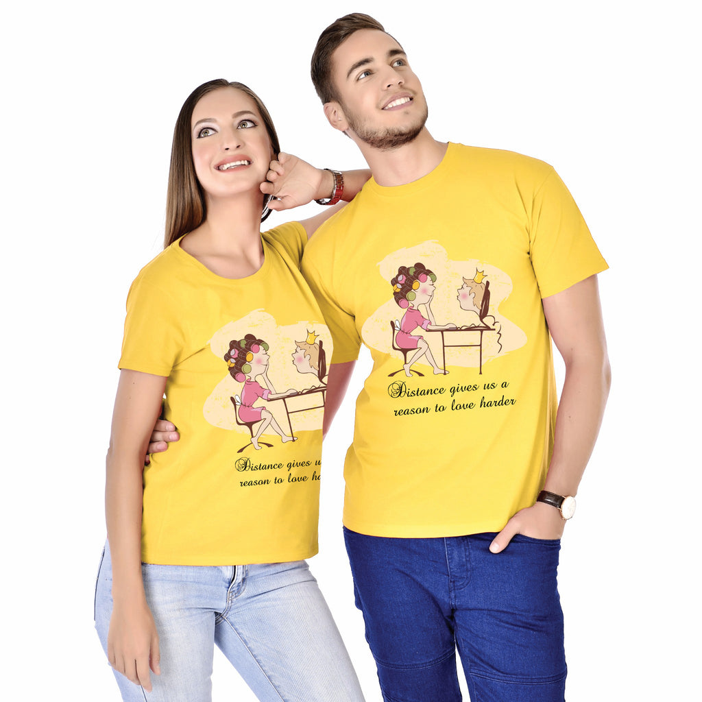 Distance Gives Us Reason To Love Harder Couple Tees