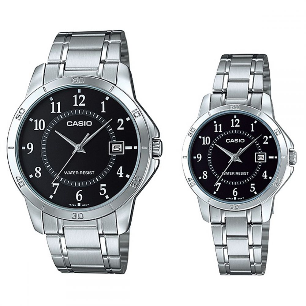Casio His And Her Stainless Steel Band Couple Watch