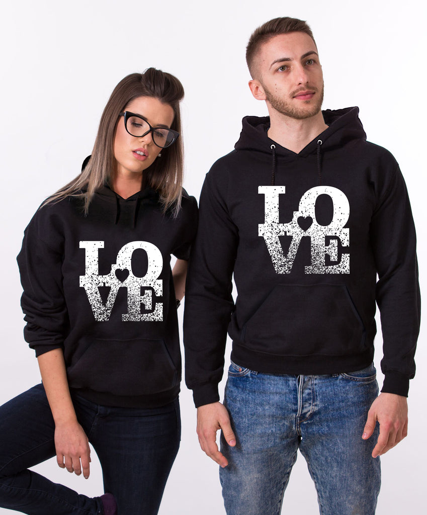 Love Black Couple Hoodies