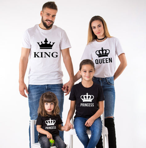 King Queen Princess Family Tees