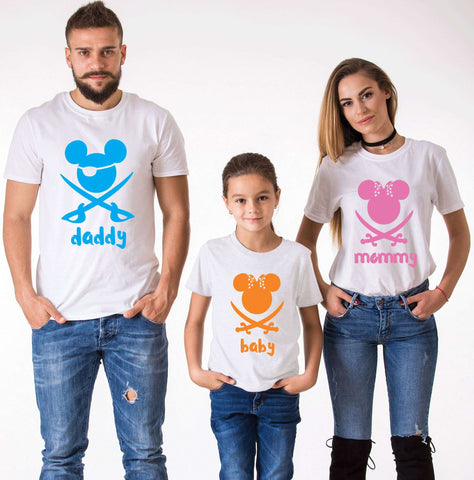 Daddy Mommy Kid Tees