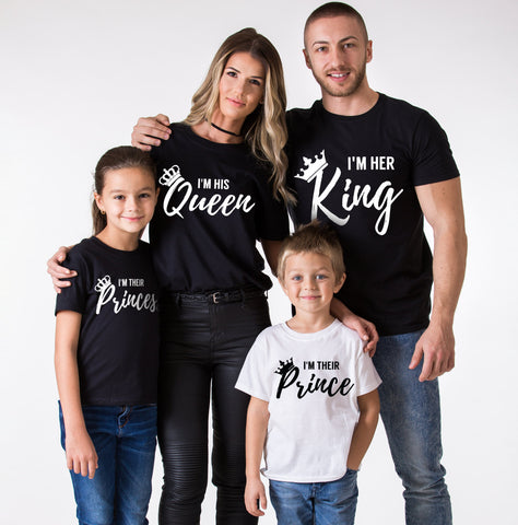 I am her king/I am his queen Family Tees
