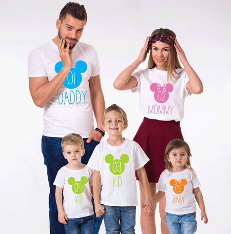 Daddy Mommy Kid Baby Family Tees