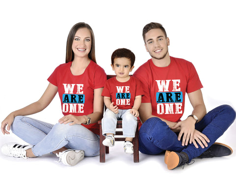 We Are One Family With Baby Tees