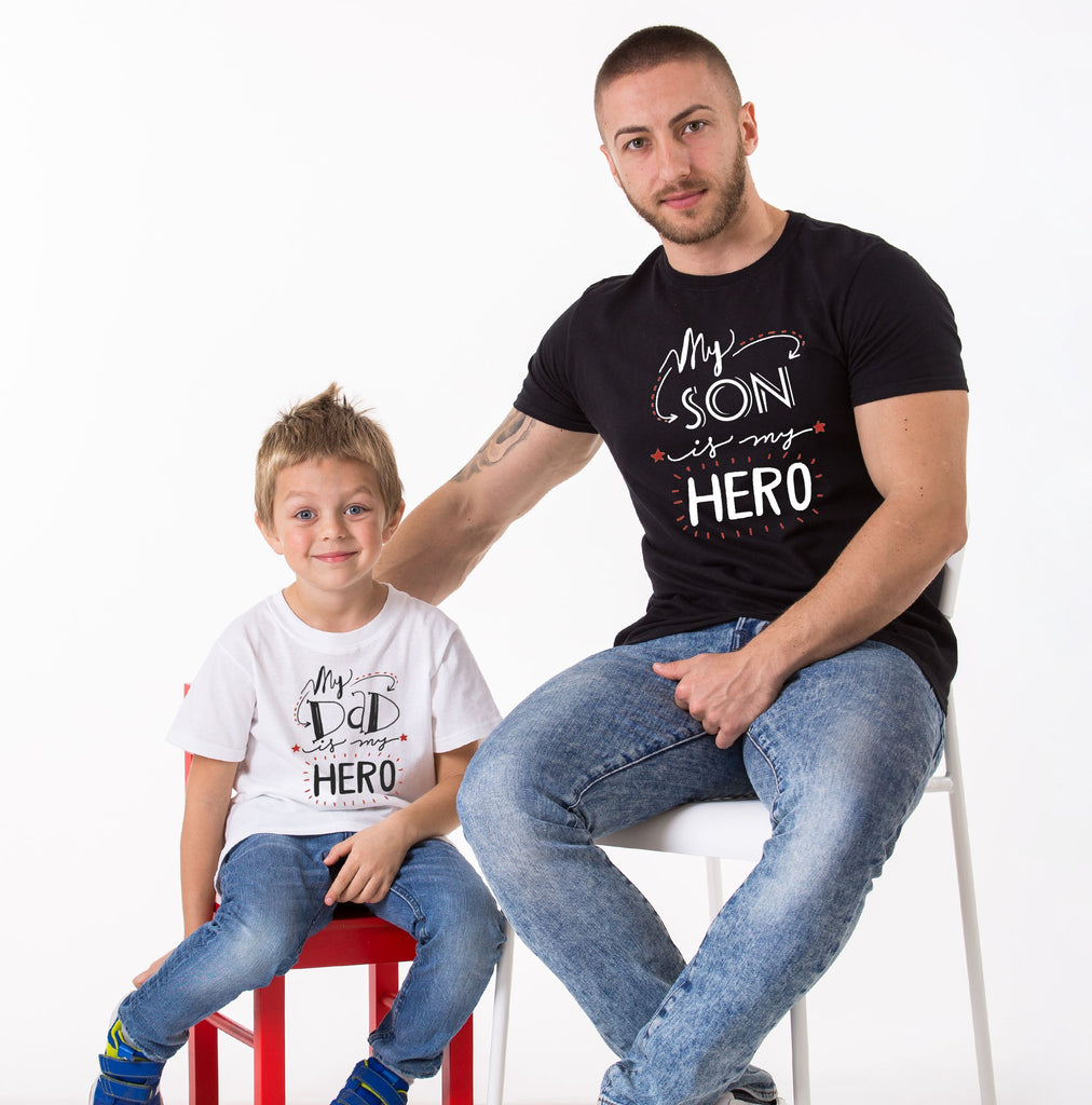 Son My Only Hero/Dad My First Hero Tees
