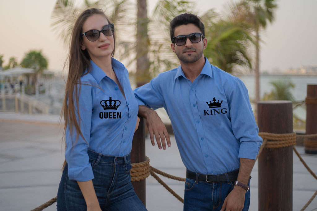 Trendy King Queen Couple Set