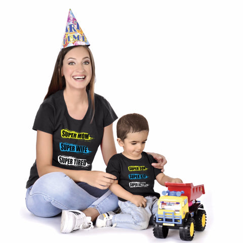 Super Mom/Son Mother Baby Tees