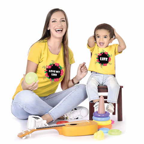 Love My Life Mother Baby Tees