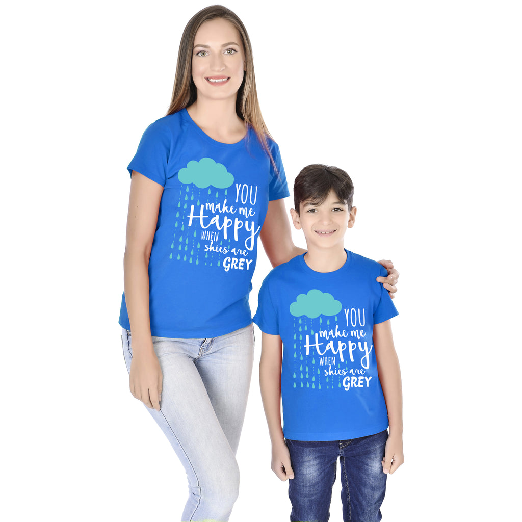 You Make Me Happy Mom Son Tees