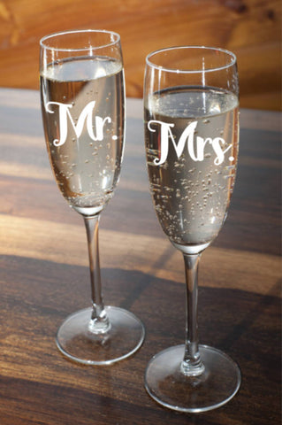 Mr and Mrs Wine Glasses