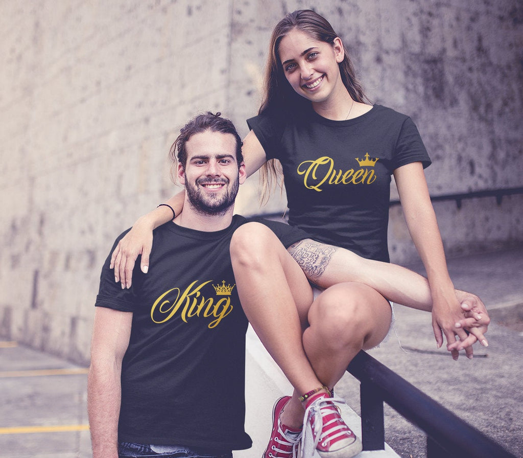 Valentine's Royal King Queen Couple Tees