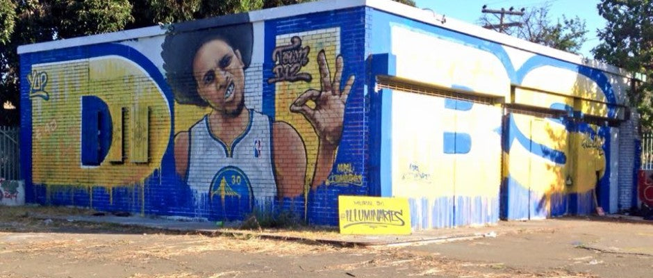 Wet Paint: Steph Curry's New Mural in Oakland