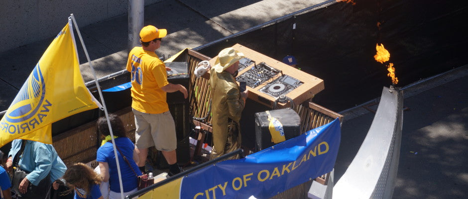 Warriors Championship Parade: Bird's Eye View