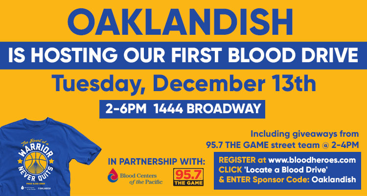 Oaklandish Blood Drive