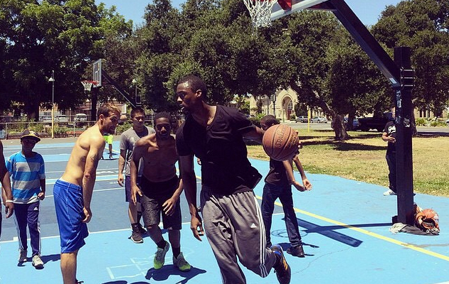 Harrison Barnes Hooping at Mosswood