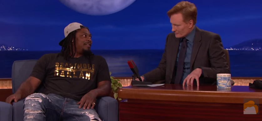 Marshawn in a Pool Full of Skittles