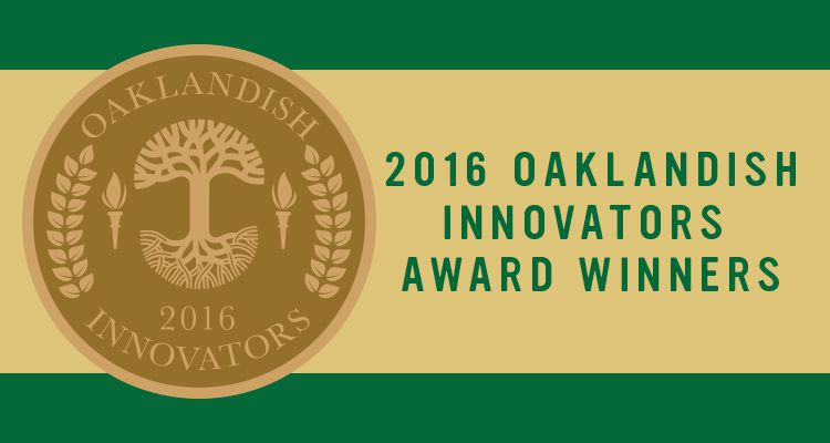 2016 Oaklandish Innovators Award Winners