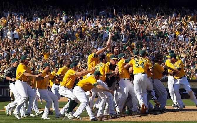 For A's fans, it's payback time