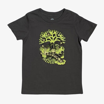 Toddler T-Shirt - Oakland Tree House, Black Cotton