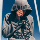hoodie - clothing - outerwear-heather grey - zip - oaklandish