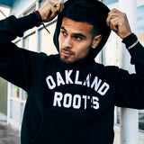 hoodie - champion - oakland roots - black - cotton