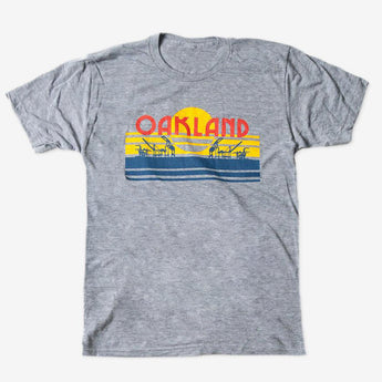 O-A-K-L-A-N-D License Plate Tee | Athletic Grey