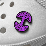 Shoe Charm - Oaklandish Logo, Purple & Black
