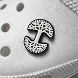 Shoe Charm - Oaklandish Logo, White & Black