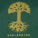 Oaklandish Classic Logo Tee - Forest Green Cotton