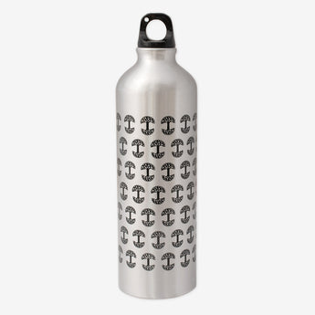 Repeat Logo Aluminum Water Bottle