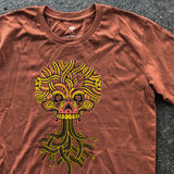 Ancient Roots Urban Aztec Tee - Copper Red Cotton
