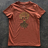 Ancient Roots Urban Aztec Tee | Copper Cotton