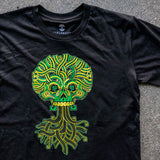 t-shirt cotton-unisex-black green-jesse hernandez-urban aztec