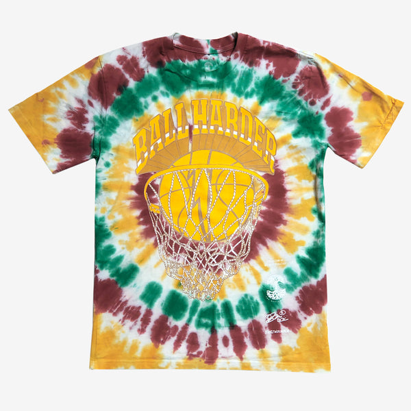t-shirt - ball harder - Dustin O. Canalin  - tie-dye cotton