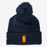 New Era Oakland Warriors City Edition Pom Knit Hat - Navy